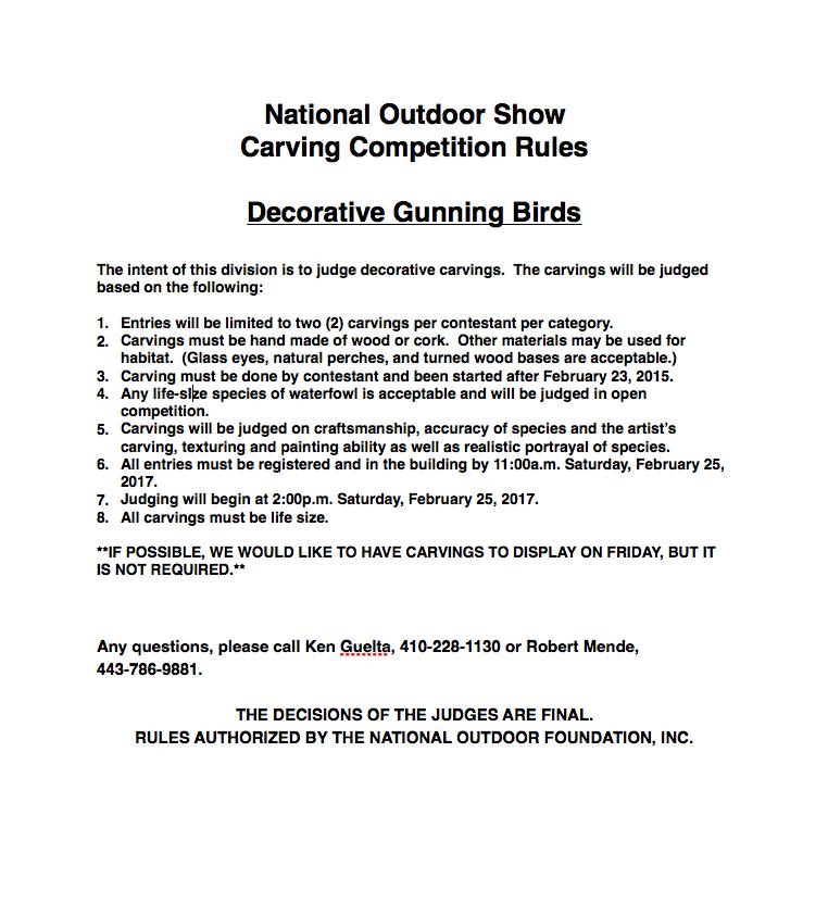 Carving Gunning Birds